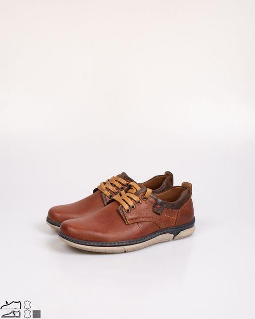 Pantofi Adam's din piele naturala cu siret 2103601347