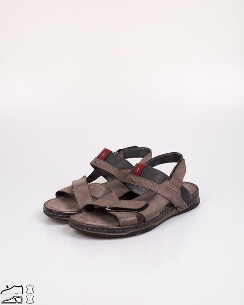 Sandale Adam's din piele naturala cu talpa moale si banda velcro 2103601369