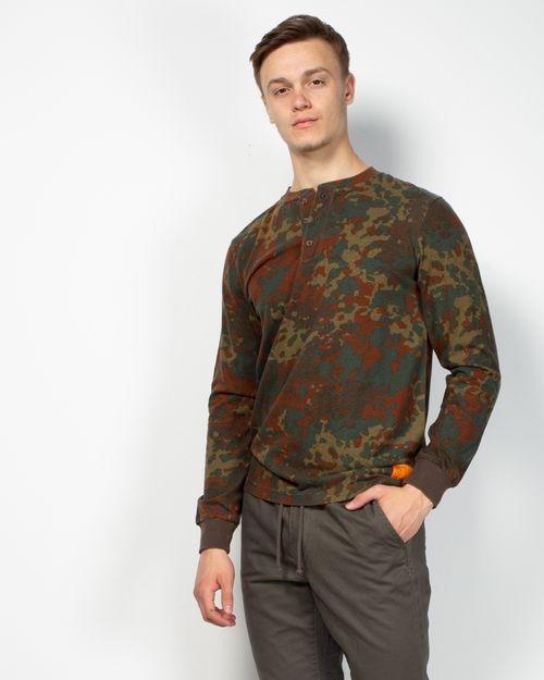 Bluza din bumbac cu maneca lunga si imprimeu 2107003003