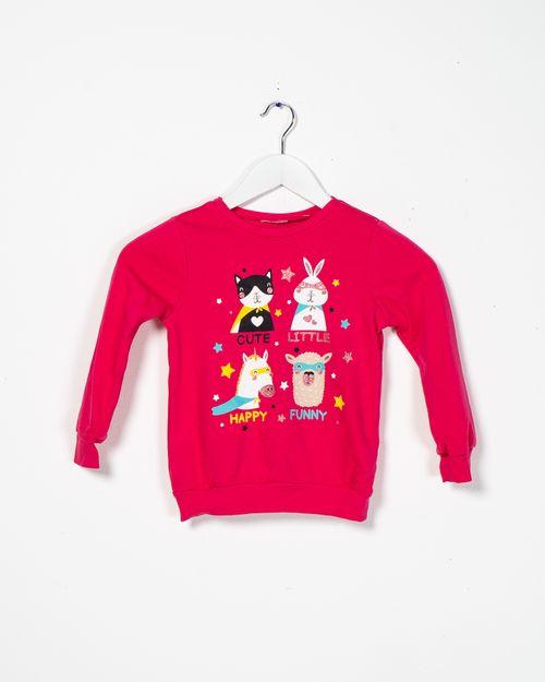 Bluza  fete din bumbac cu imprimeu  20287A6013