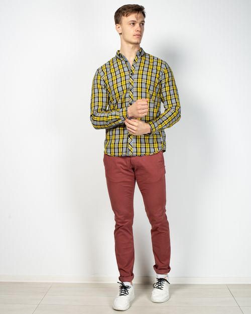 Pantaloni casual din amestec de bumbac 2102801019