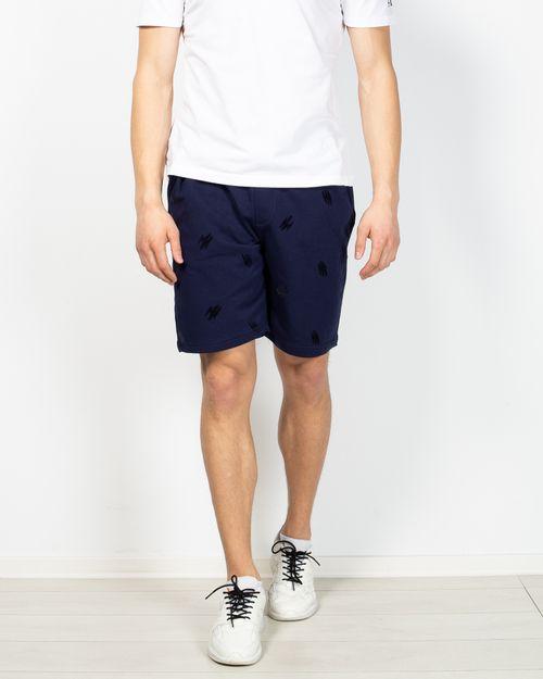 Pantaloni scurti din bumbac cu buzunare si talie elastica 2105330002