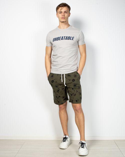 Pantaloni din bumbac scurti cu imprimeu  2105330003