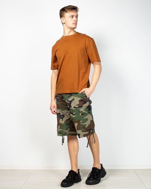 Pantaloni cargo din bumbac cu imprimeu army 2102801003