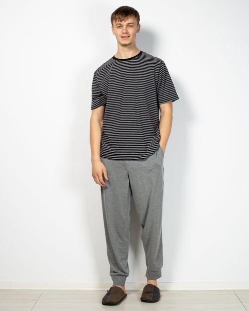 Pijamale din amestec de bumbac cu dungi2106902001