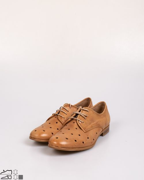 Pantofi Primadonna din piele naturala cu siret 2107501066