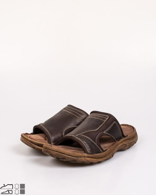 Papuci din piele naturala cu talpa moale N903805001