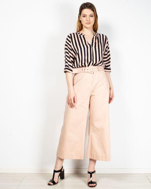 Pantaloni culotte cu talie inalta si curea 2017101121