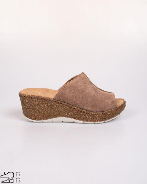 Papuci Adam`s din piele naturala cu talpa ortopedica   2103605227