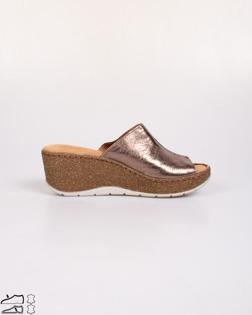 Papuci Adam`s din piele naturala cu talpa ortopedica moale 2103605230