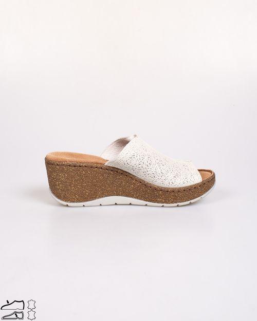 Papuci Adam`s din piele naturala cu talpa ortopedica moale 2103605231