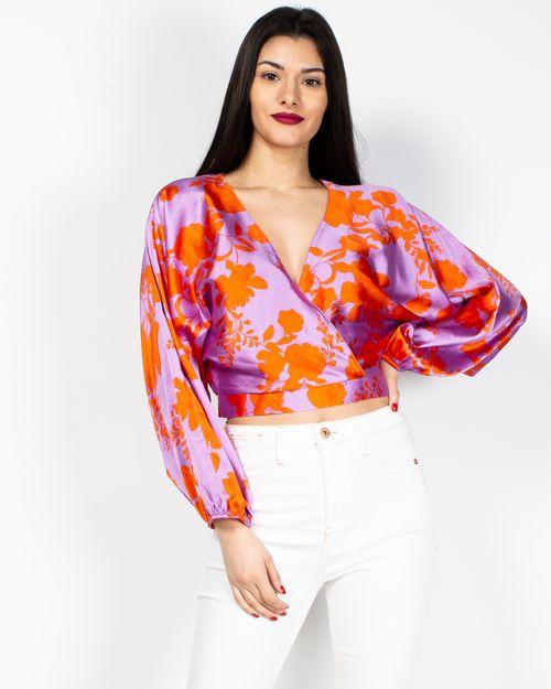Bluza scurta cu imprimeu 2017101294