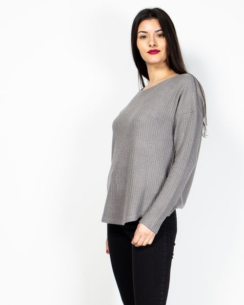 Bluza din bumbac tricotat cu maneca lunga 2029140006