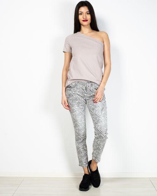 Pantaloni cu imprimeu si aplicatii in lateral 2104501033