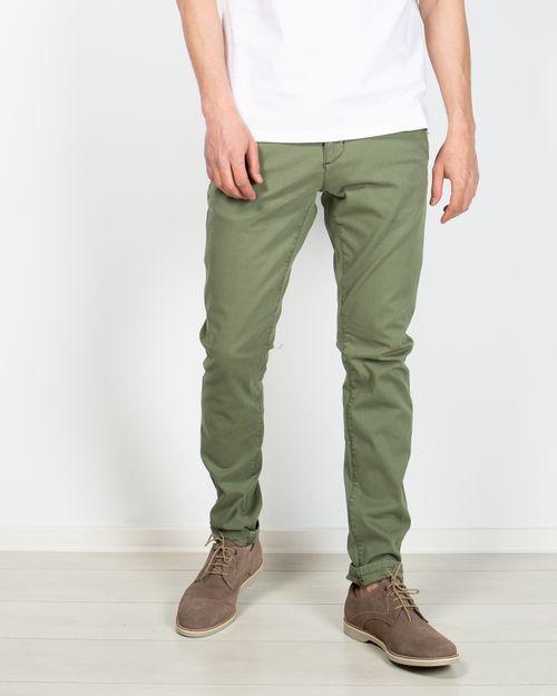 Pantaloni din amestec de bumbac cu buzunare si fermoar metalic 2104502008