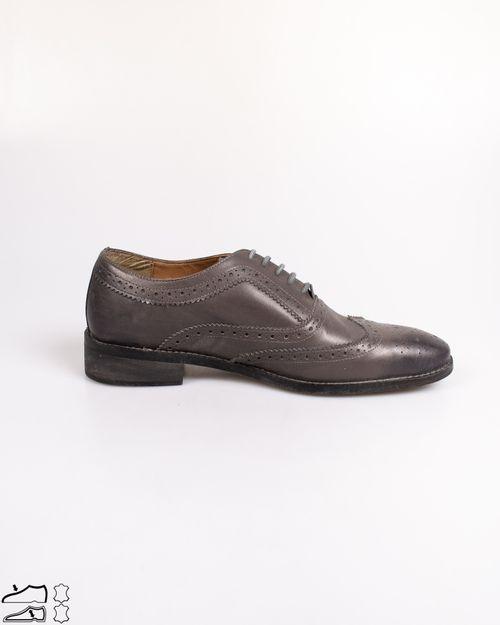 Pantofi din piele naturala cu siret  N903939002