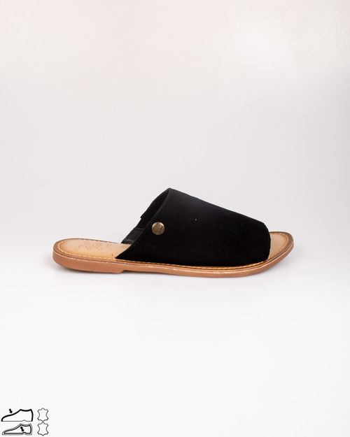 Papuci din piele intoarsa cu talpa joasa N903947012