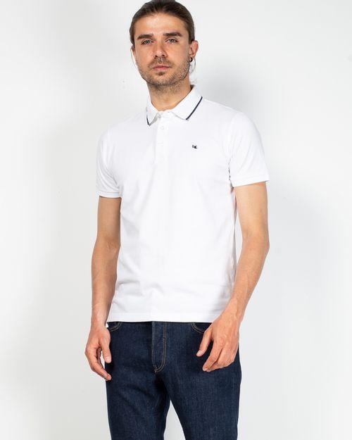 Tricou din bumbac cu nasturi la baza gatului 2100115028