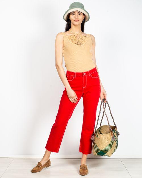 Jeans dama din amestec de bumbac cu buzunare 2110601101