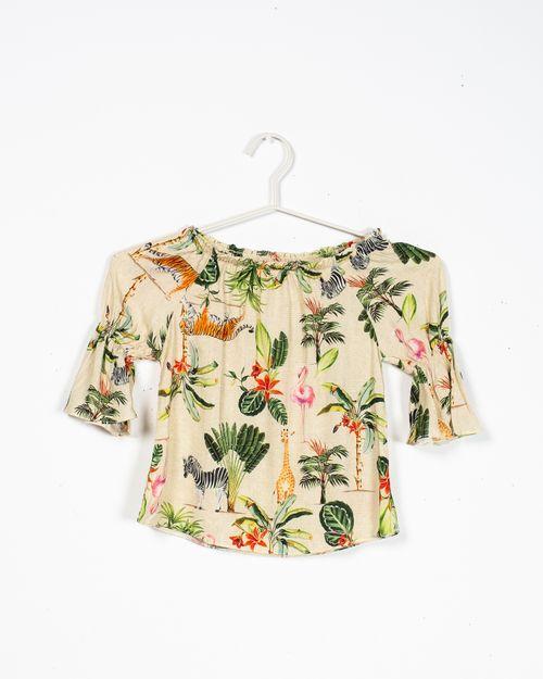 Bluza cu maneca trei sferturi si imprimeu pentru fete 1953403020