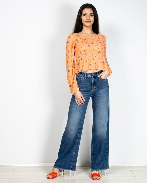 Jeans largi cu talie inalta 2028701001