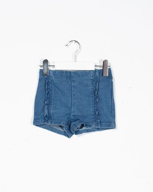 Pantaloni scurti din denim cu elastic in talie N902620006