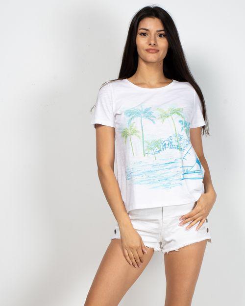 Tricou din bumbac cu imprimeu si maneca scurta N903327003