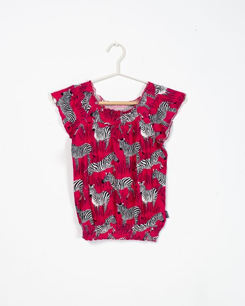 Bluza cu imprimeu si talie elastica 2111511003
