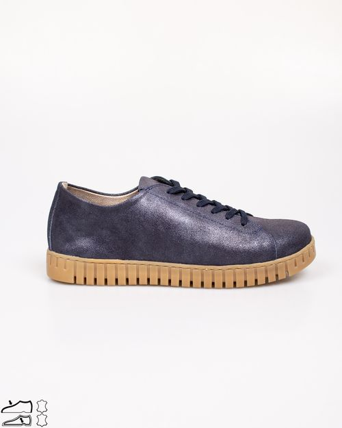 Pantofi din piele naturala usori cu siret-2113101002