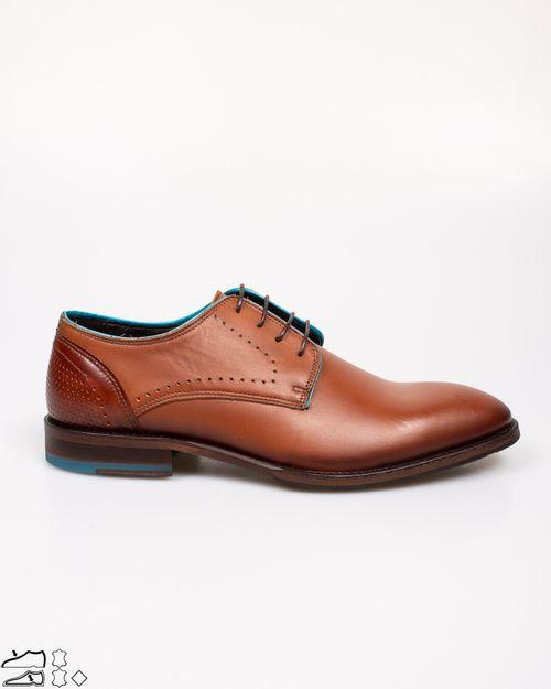 Pantofi din piele naturala cu siret si varf rotund 2113202034