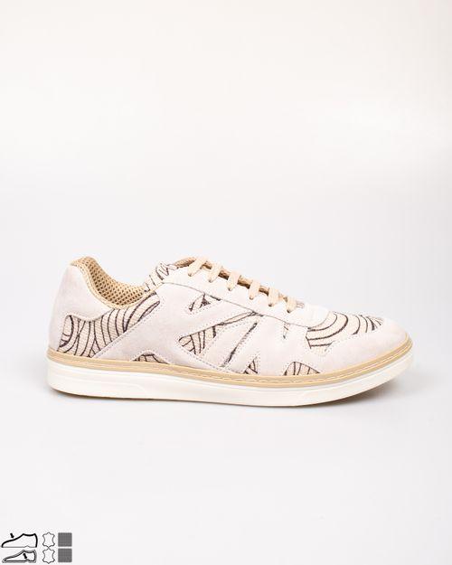 Pantofi casual din piele intoarsa si imprimeu 2114801003