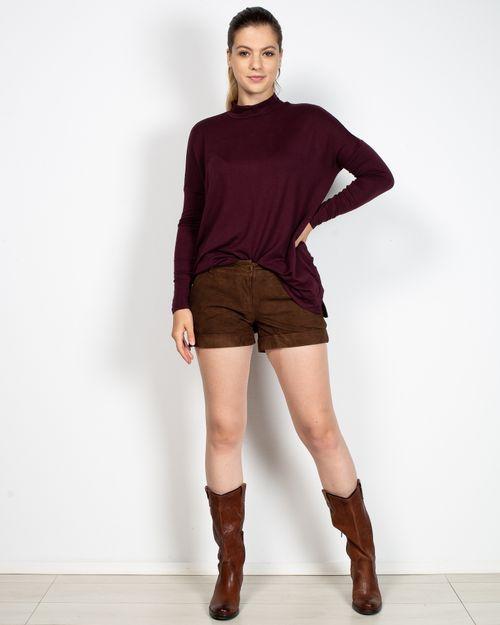 Pantaloni scurti din piele naturala cu buzunare N904327001