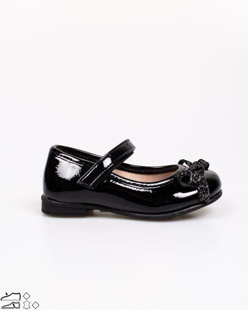 Pantofi Adam`s cu aspect lacuit si banda velcro pentru fetite 2118101061