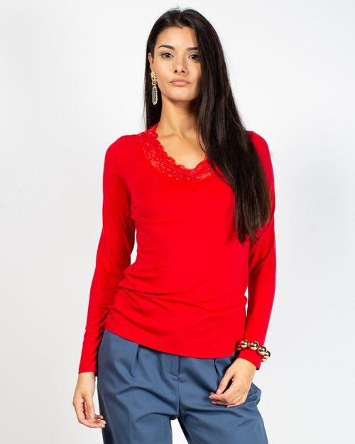 Bluza cu maneca lunga si dantela la baza gatului 2106005001