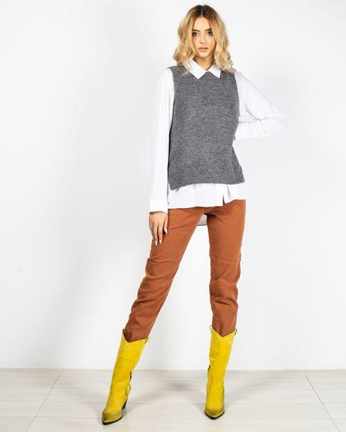 Vesta moale tricotata cu fante laterale 2115001011