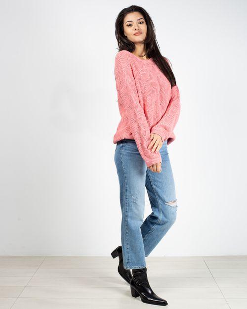 Jeans drepti din bumbac cu fermoar metalic si buzunare 2118708013