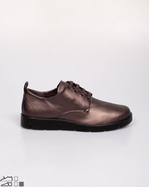 Pantofi casual Ecco din piele naturala cu aspect metalizat si talpa joasa 2118301274