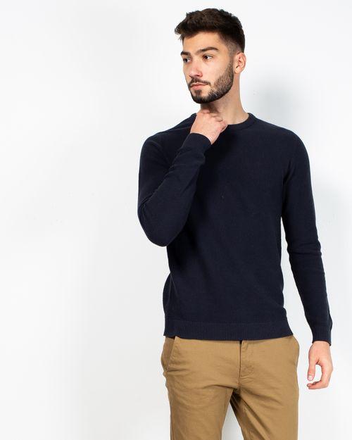 Pulover tricotat din bumbac cu model texturat  2110801050