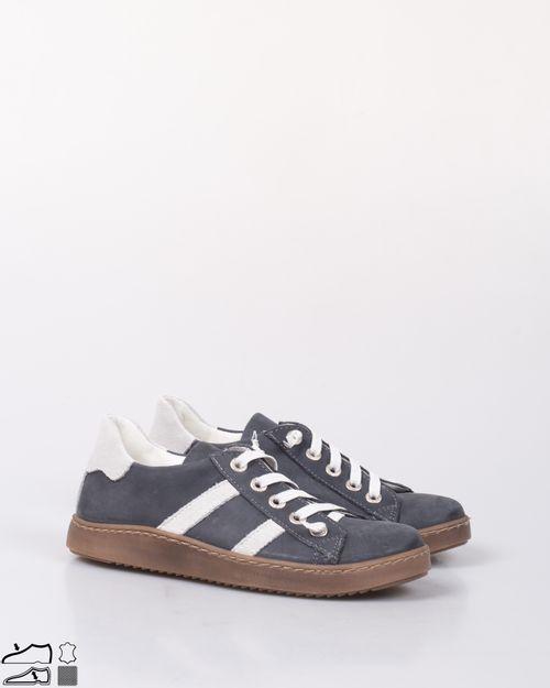 Pantofi din piele naturala cu siret elastic 2002101010