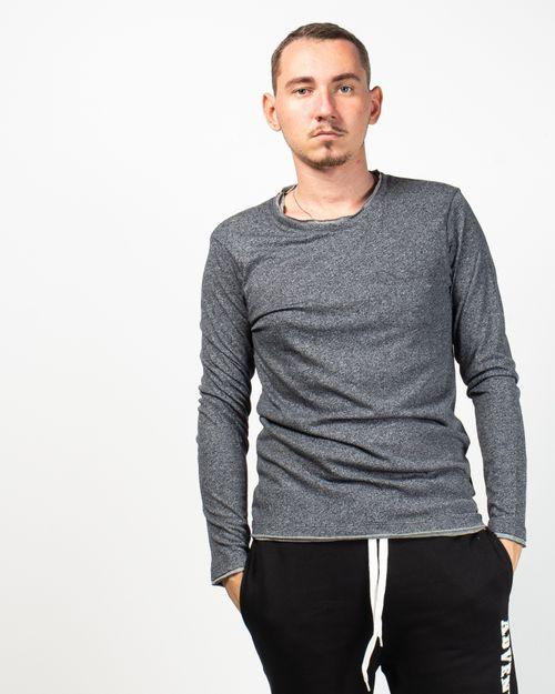 Bluza casual cu buzunar aplicat