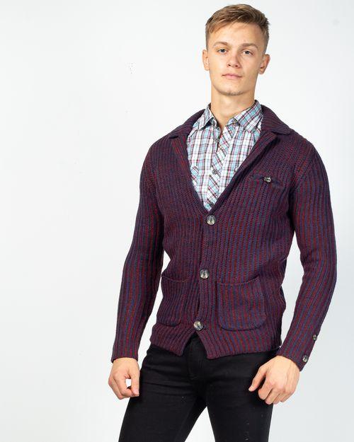 Cardigan tricotat gros cu buzunare