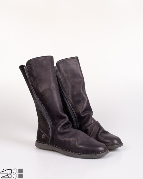 Cizme comode Softinos din piele naturala cu elastic in lateral si talpa flexibila 2027501004