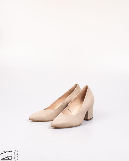Pantofi din piele naturala cu varf ascutit 2029904001