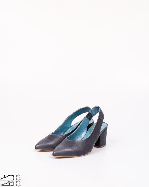 Pantofi din piele naturala cu bareta la spate si toc 2029905021