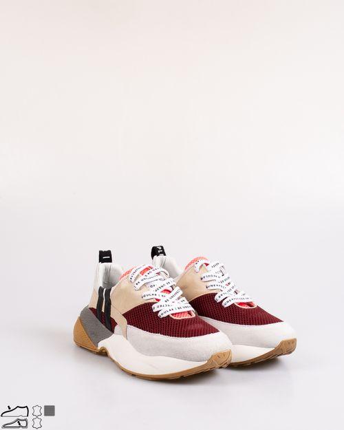 Pantofi din piele naturala cu sireturi si talpa inalta 2031301003