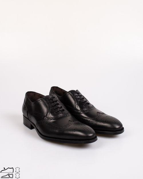 Pantofi din piele naturala cu model perforat si varf rotund  2031601002