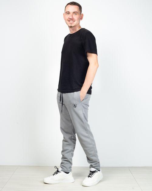 Pantaloni de trening cu buzunare si talie inalta 2029155001