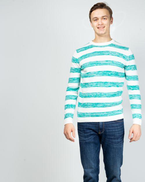 Pulover tricotat in dungi cu maneca lunga 2029701004