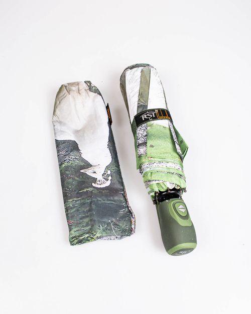 Umbrela verde de buzunar
