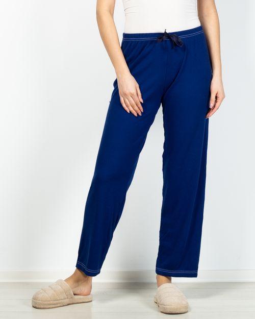 Pantaloni de pijama cu talie elastica si funda 2031267117
